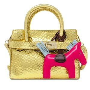Metallic Crocodile Buckle Bag